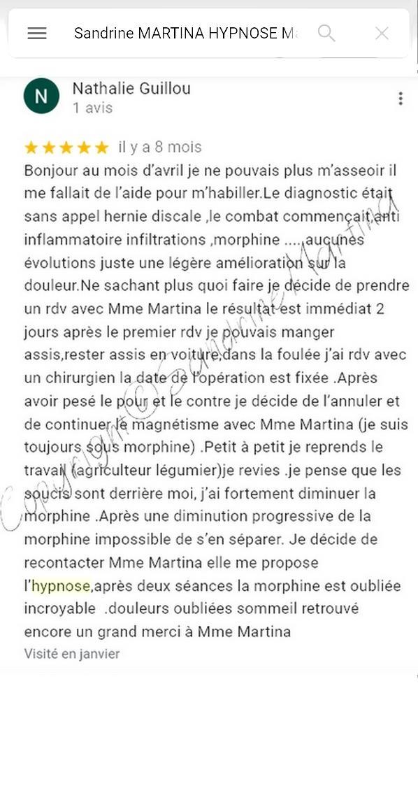 Avis sandrine martina janvier 2021 google copyright 1