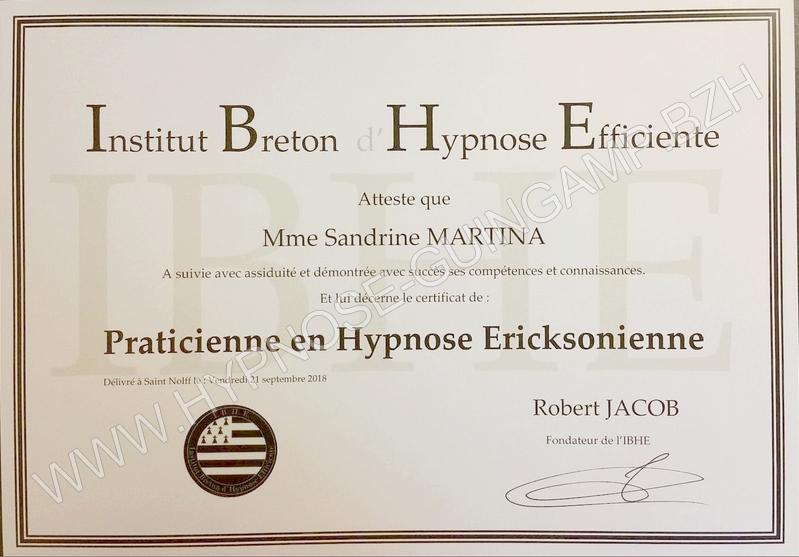 Diplome praticienne hypnose ericksonienne copyright